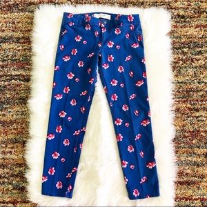 Abercrombie & Fitch jeans, royal blue floral!